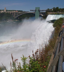 Niagara Falls and Rainbow